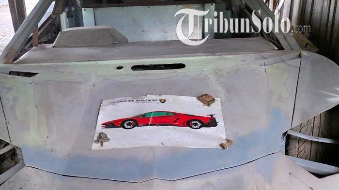 Tangan Dingin Pria Sragen, Lihai Memodifikasi & Pakai Ilmu Google,Sulap Mobil Lawas Jadi Lamborghini