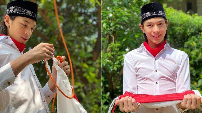 Berdarah Blasteran, Eddy Putra Maudy Koesnaedy Tuai Pujian Kala Tampil ala Paskibraka di Rumah