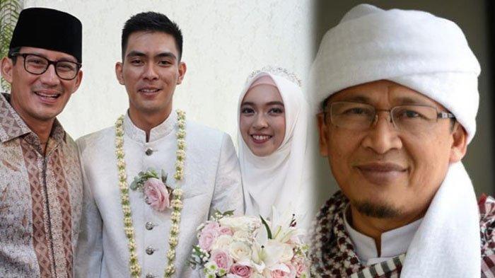 Pesan Aa Gym kepada Alzindani yang Resmi Menikahi Ghefira, Sandiaga juga Sampaikan Wejangan