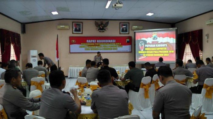 Kapolda Jateng Gelar Rapat Koordinasi Pengamanan 8 Besar Piala Presiden2018 di Solo