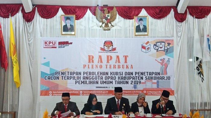 Sempat Tertunda, KPU Sukoharjo Gelar Rapat Pleno Penetapan Kursi Calon Anggota DPRD Sukoharjo