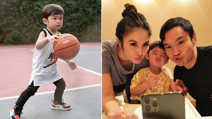 Sandra Dewi Pamerkan Skill Raphael Anak Sulungnya Main Basket, Harvey Moeis Telaten saat Ajari Anak
