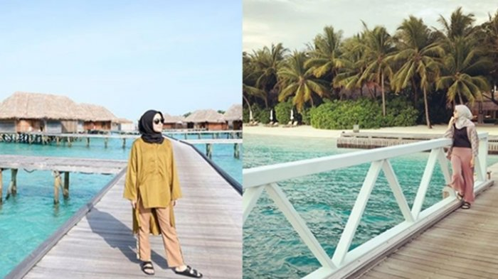 Dinikahi Pengusaha Tambang, Impian Artis Cantik Ini Berlibur ke Maldives Akhirnya Terwujud