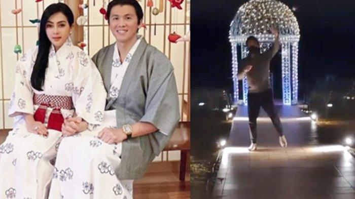 Bahagia Bersama Syahrini, Reino Barack Menari-nari di Tengah Taman Saat di Jepang Direkam oleh Istri
