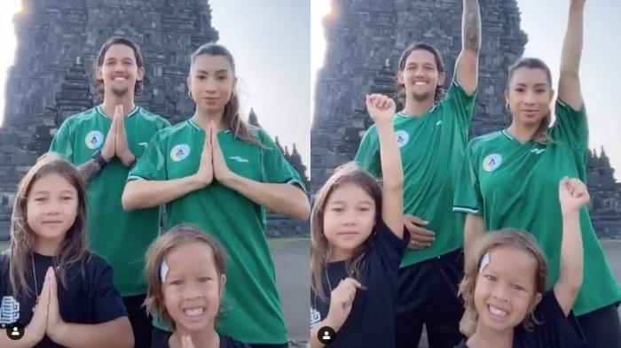 Gabung PSS Sleman, Inilah Keseruan Irfan Bachdim dan Keluarga Main Tik Tok di Prambanan