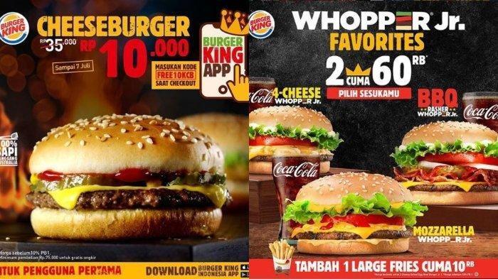 Promo Burger King Hari Ini, Mau Beli Cheeseburger Cuma Rp 10.000? Simak Caranya