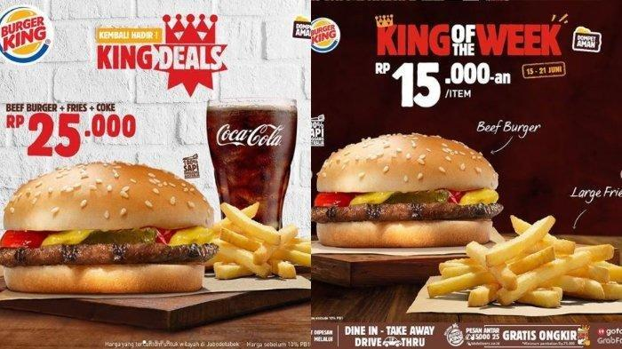 Promo Burger King Hari Ini: Rp 25.000 Dapat Beef Burger, Kentang Goreng, dan Minum
