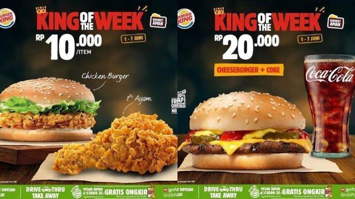 Promo Burger King Hari Ini, Ada Buy 1 Get 1 Free Cheese Burger hingga Harga Mulai Rp 5 Ribu