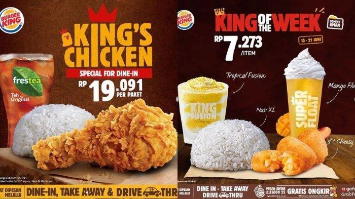 Promo Burger King Hari Ini: Cukup Rp 19 Ribuan Dapat 1 Ayam, 1 Nasi, dan 1 Minum, Mau?