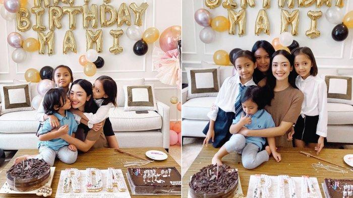 Tanpa Aldi Bragi, Ririn Dwi Ariyanti Rayakan Ulang Tahun Hanya dengan 3 Anaknya, Adira Kania Absen