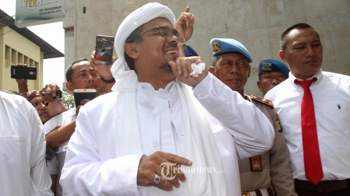 Begini Sikap Rizieq Shihab kepada Polisi saat Jalani Pemeriksaan di Arab Saudi