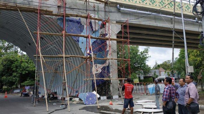 Sidak Lagi ke Flyover Manahan, Komisi II DPRD Solo Kecewa Pekerjaan Mozaik Belum Kelar