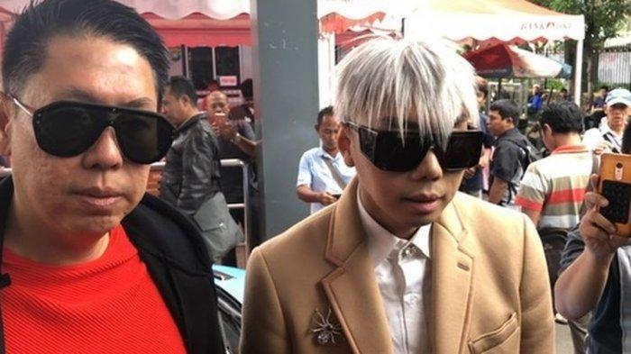 Roy Kiyoshi dan Henry Indraguna saat ditemui di Polda Metro Jaya, Jakarta Selatan, Kamis (14/11/2019).