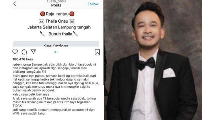 Dilacak oleh Ruben Onsu, Ternyata Ini Sosok Netizen Pemilik Akun Ulil Bochil yang Ancam Bunuh Thalia