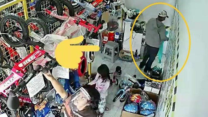 Dicari : Maling Tega Curi Tas Anak SMK yang Jadi Penjaga Toko Sepeda Jebres, Meski Isinya Rp 50 Ribu