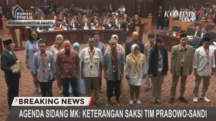 Inilah Nama-nama Saksi dan Saksi Ahli Tim Prabowo Sandi di Sidang MK, Ada Said Didu hingga Ahli IT