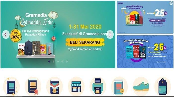 Promo Online Book Fair Gramedia Diskon Besar-besaran 24 April-31 Mei 2020! LOGIN www.gramedia.com