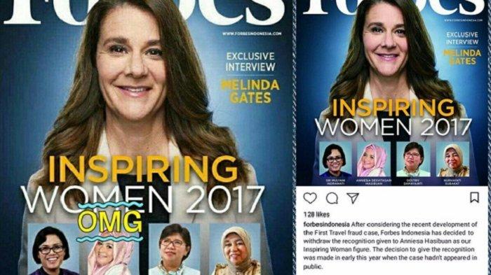 Forbes Indonesia Batalkan Penghargaan Wanita Inspiratif bagi Pemilik First Travel, Anniesa Hasibuan