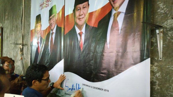 Resmikan Posko Seknas Pemenangan Prabowo-Sandi Dekat Rumah Jokowi, Sandiaga : Are You Ready?