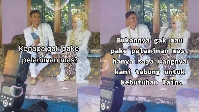 Viral Pasangan di Cilacap Nikah Tanpa Hiasan Pelaminan, Ngaku Habiskan Rp 7 Juta untuk Resepsi