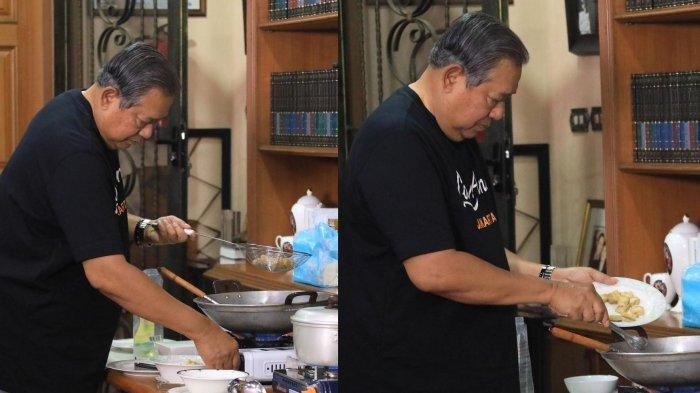 SBY Masak Kupat Tahu di Rumah Cikeas, Kenang Langganan Kupat Tahu Kesukaan Mendiang Ani Yudhoyono