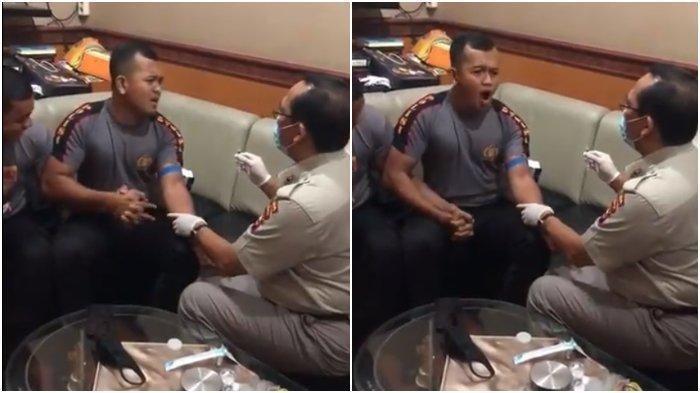 Cerita di Balik Video Polisi Ketakutan Saat Disuntik, Ternyata Dilakukan untuk Rapid Test