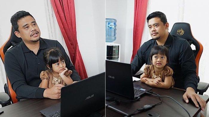 Gemasnya Sedah Mirah Cucu Presiden Jokowi Temani Sang Ayah Kerja, Kahiyang Ayu Ikut Gemas Melihatnya