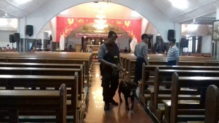 31 Gereja di Klaten Dijaga Ratusan Personel Gabungan, Turunkan 3 Anjing Pelacak