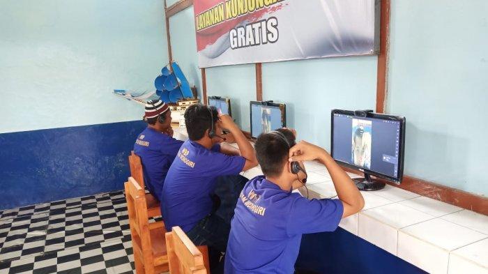 Dampak Corona, Napi Rutan Wonogiri Hanya Bisa Pandangi Keluarga via Layar Komputer saat Video Call