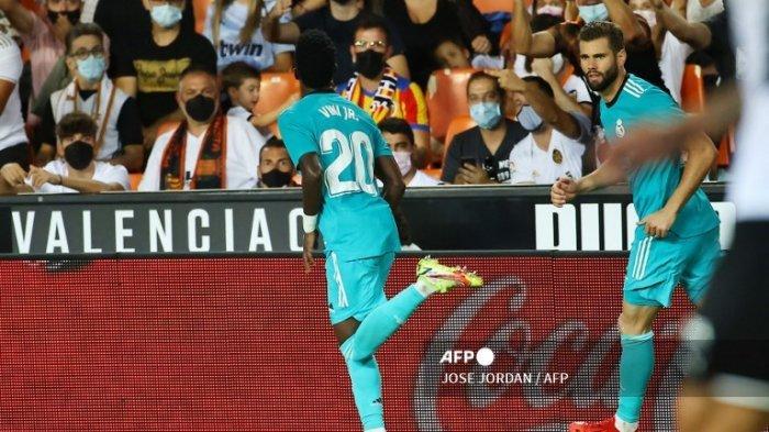 Vinicius Junior Aktor Kemenangan Comeback Atas Valencia, Real Madrid Raih Pucuk Klasemen La Liga