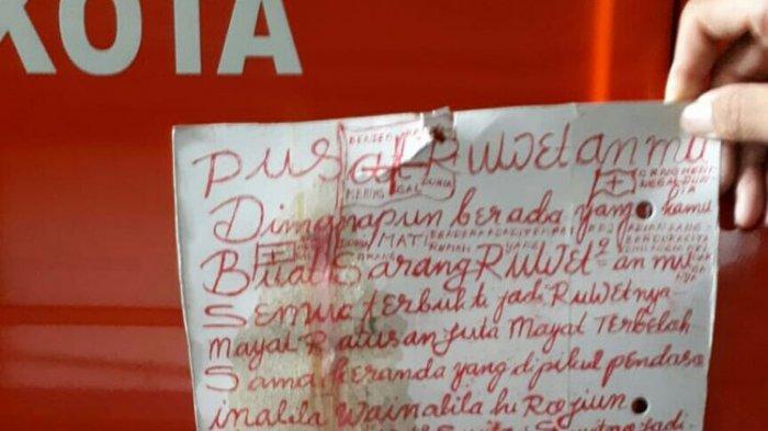 Kasus Mutilasi Tubuh Wanita di Malang, Polisi Selidiki Selembar Kertas Bertuliskan Tinta Merah
