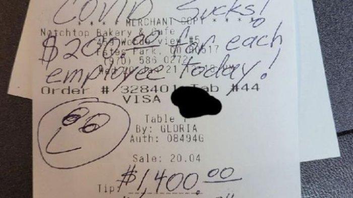 Cerita Keberuntungan Pelayan Toko, Di Tengah Pandemi Justru Dapat Tip Rp 19 Juta dari Pembeli