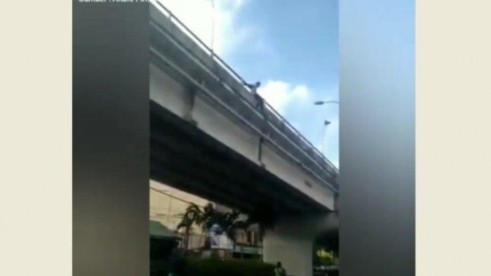 Putus Cinta, Pria Ini Mencoba Bunuh Diri dengan Anjlok dari Jembatan Layang Lempuyangan Yogyakarta