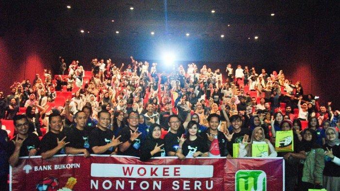 Kenalkan Penggunaan Aplikasi Wokee, Bank Bukopin Gelar Nonton Bareng Film 'Joker' di Solo