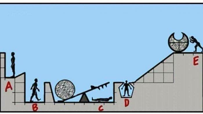 Tes Logika: Menurutmu Siapa yang Akan Mati Jika E Mendorong Batu Besar?