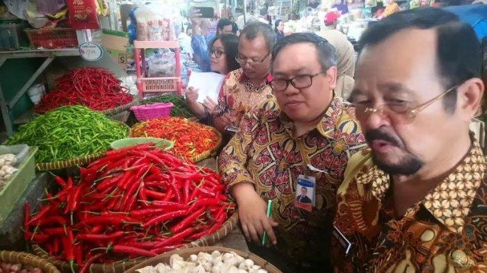 Sidak TPID di Pasar Tradisional Solo, Turunnya Harga Bawang Putih Masih Fluktuatif