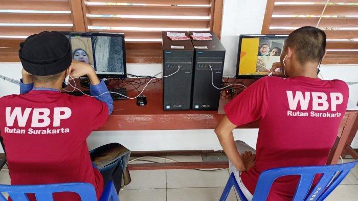 Lebaran, Warga Binaan Rutan Solo Silaturahmi Online, Dijatah 10 Menit tiap Orang