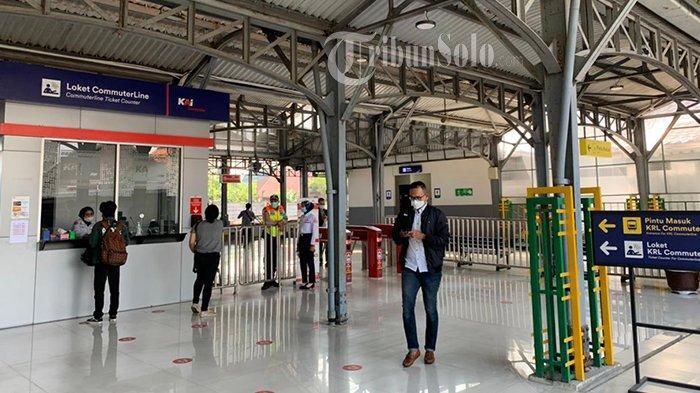 Jelang Lebaran 2021, Begini Kondisi Stasiun Purwosari Solo, Tampak Lengang