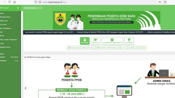 Link dan Alur PPDB Online SMP di Sragen : 19 Juni 2021 Terakhir Pendaftaran, Jangan Sampai Telat