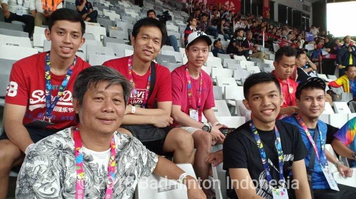 Kevin Sanjaya dan Skuat Pebulu Tangkis Putra Beri Dukungan Atlet Asian Para Games 2018