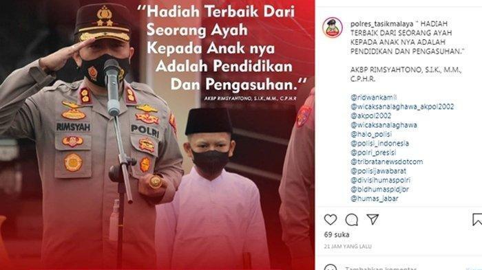 Viral Bocah 13 Tahun Jadi Ajudan Kapolres Tasikmalaya saat Apel Pagi, Ternyata Begini Kisahnya