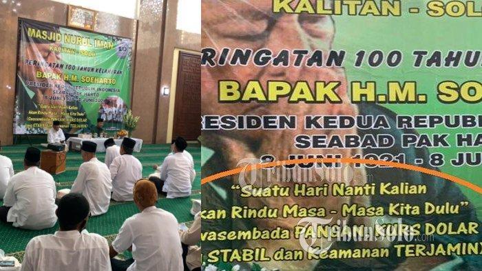 Tulisan Spanduk Peringatan 100 Tahun Soeharto di Kalitan Solo : Kalian akan Rindu Kurs Dolar Stabil