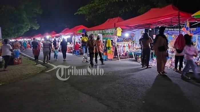 Suasana Night Market Sukowati, Kabupaten Sragen, Sabtu (5/6/2021).