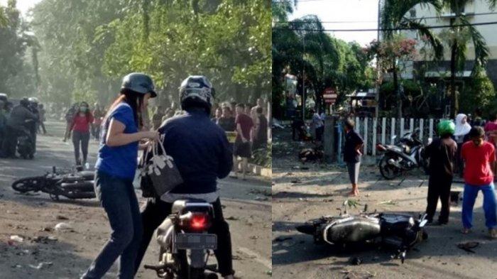 Detik-detik Bom Meledak di Gereja Surabaya, Tembok Rumah Warga Bergetar hingga Motor Berserakan