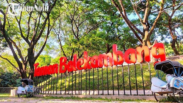 Suasana Taman Balekambang Solo, Baru Dibuka Sudah Ratusan Pengunjung per Hari