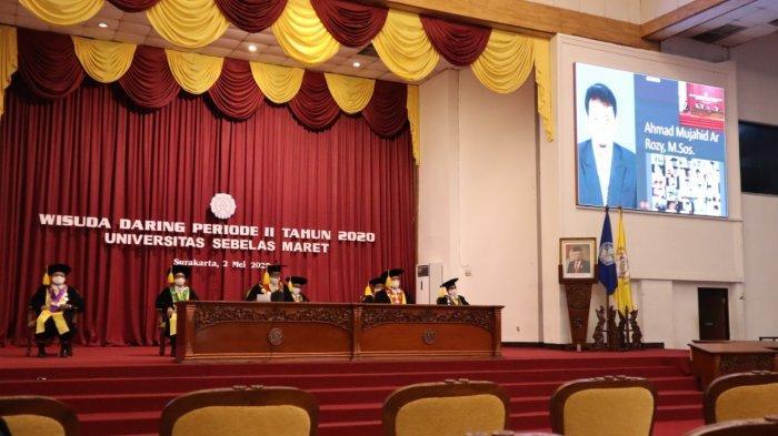Jadi Sejarah UNS Solo, Pertama Kali 259 Mahasiswa UNS Diwisuda Online Terdampak Corona