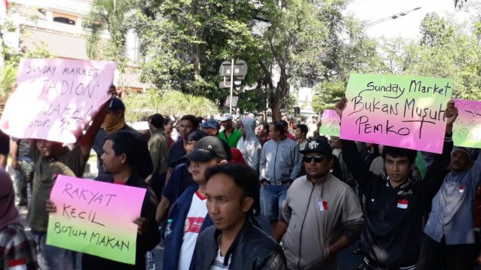 Pedagang Sunday Market Manahan Solo Anggap Opsi Pemkot soal Pemindahan Tak Sesuai Standar