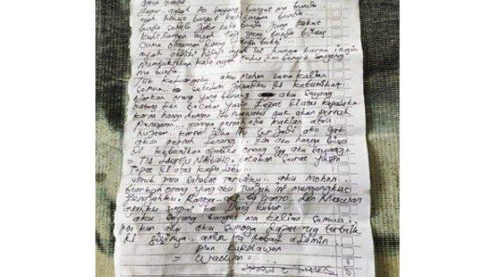 Isi Surat Pria Bertato yang Bunuh Diri di Asahan : Bacakan Yasin Agar Nyawaku Tak Penasaran