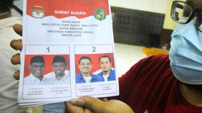Begini Wajah Bobby Menantu Jokowi di Surat Suara, Diprotes karena Foto Rival Seakan Lebih Gelap