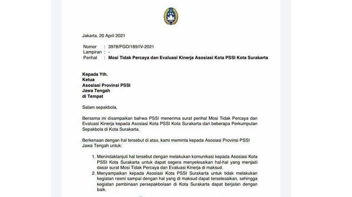 Prahara Askot PSSI Solo, Asprov PSSI Jateng Berharap Segera Selesai : Jangan Sampai Beku